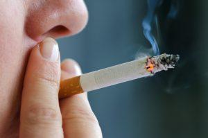 Smoking cigarette